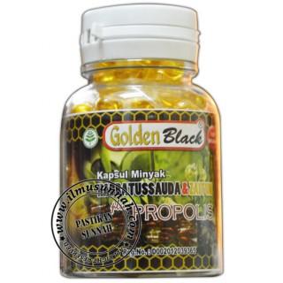 3 in 1 Habbatus Sauda Plus Zaitun & Propolis Golden Black (100 Kapsul Minyak)