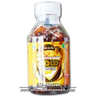 2 in 1 Habbatus Sauda Plus Minyak Zaitun Gold Protector (210 Kapsul Minyak)